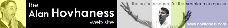 The ALAN HOVHANESS Website