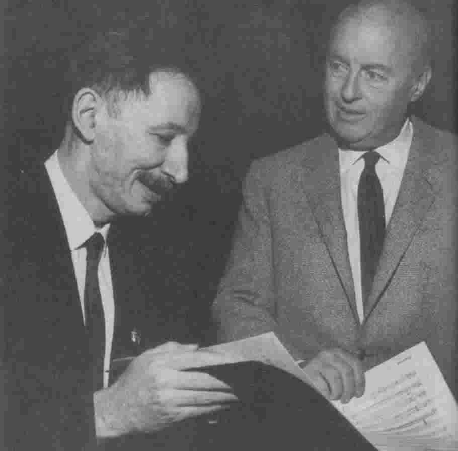 Alan Hovhaness with Andre Kostelanetz